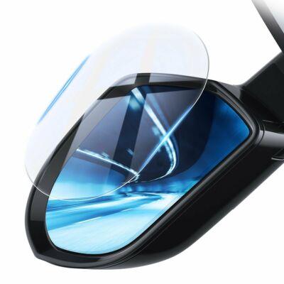 Baseus autós külső tükörre ragasztható esőlepergető filmréteg, (Ovális 2 db/csomag, 135*95 mm) átlátszó (SGFY-C02)