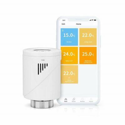Okos Wifi termosztát fej, radiátorhoz Meross MTS100
