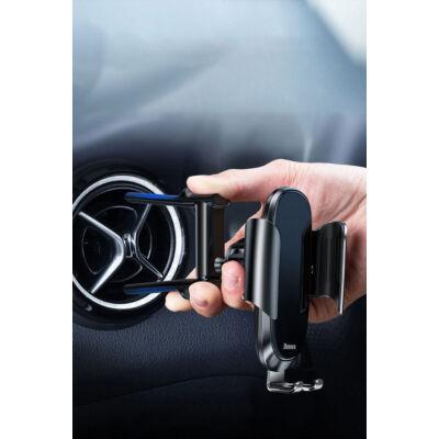 Baseus Future Gravity autós telefontartó kerek szellőzőhöz, fekete (SUYL-BWL01)