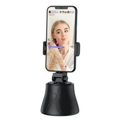 Baseus inteligens, 360 fokos, automatikus követővel ellátott selfie állvány, fekete (SUYT-B01)