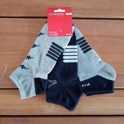Kappa FFI rövid szárú zokni, NEW-vegyes szín, 43-46, 3db-os
