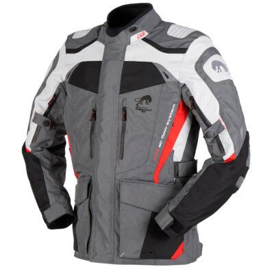 Furygan Apalaches férfi 4 évszakos motoros kabát, Fekete-szürke-piros, Airbag ready