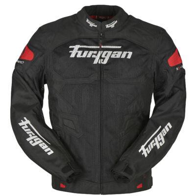 Furygan Atom férfi nyári motoros hálós kabát, Fekete-Piros, Airbag ready