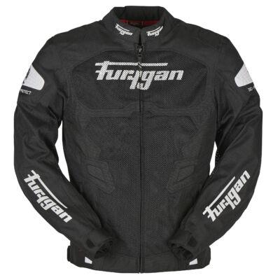 Furygan Atom férfi nyári motoros hálós kabát, Fekete-Fehér, Airbag ready