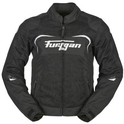 Furygan CYANE női nyári motoros hálós kabát, Fekete-fehér, Airbag ready