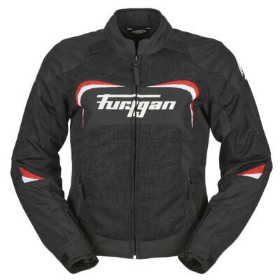 Furygan CYANE női nyári motoros hálós kabát, Fekete-Piros, Airbag ready