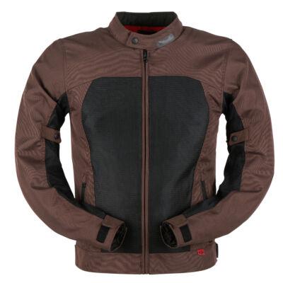 Furygan Genesis Mistral Evo 2 nyári motoros hálós kabát, Barna-fekete, Airbag ready