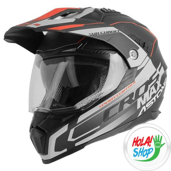 motocross-helmet-cross-enduro-astone-crossmax-road-matt-black-gray-red