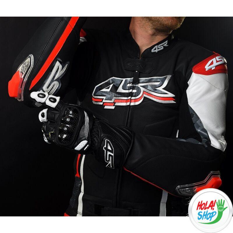 4SR Stingray Black, fekete bőrkesztyű