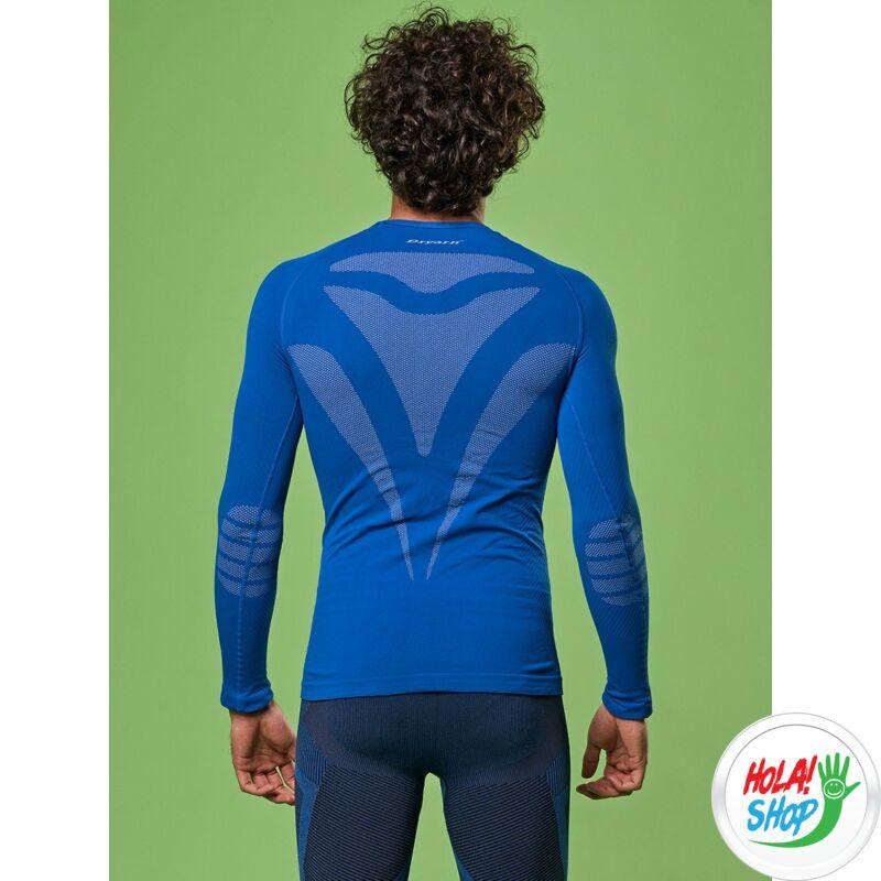 Focenza Férfi Dryarn Hosszú Ujjú sport aláöltöző felső, uni, kék