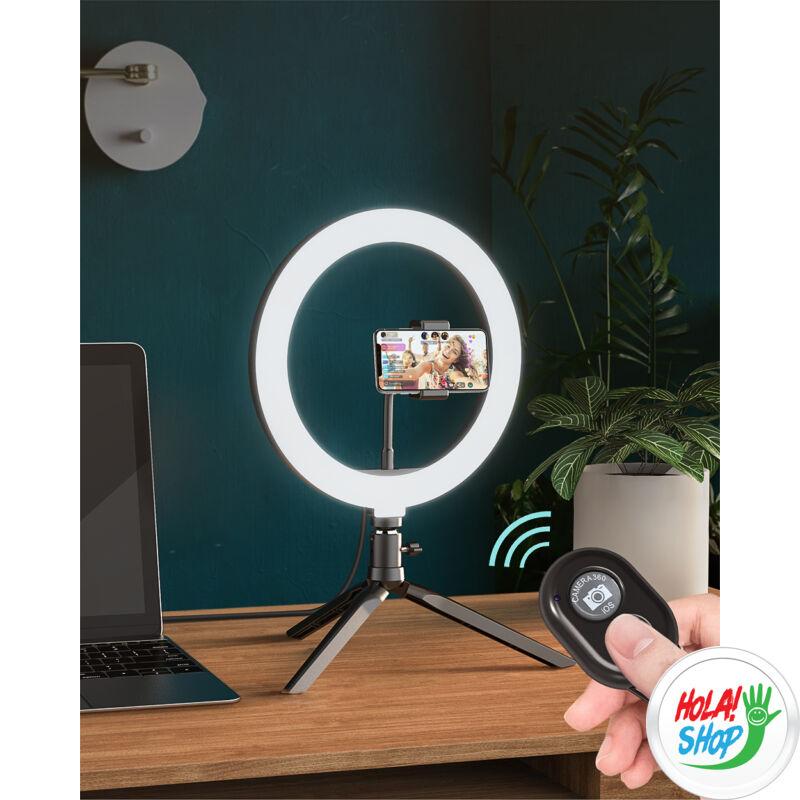 BlitzWolf BW-SL3 Világító Szelfie LED gyűrű / karika, távirányító + változtatható színhőmérséklet