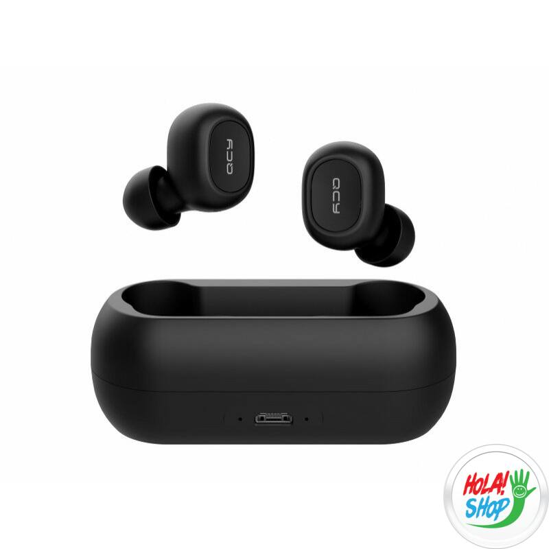 Xiaomi QCY T1C Bluetooth sztereó TWS fülhallgató, headset, fekete, BT 5.0