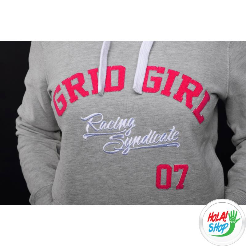 Hoodie Grid Girl S, Kapucnis felső