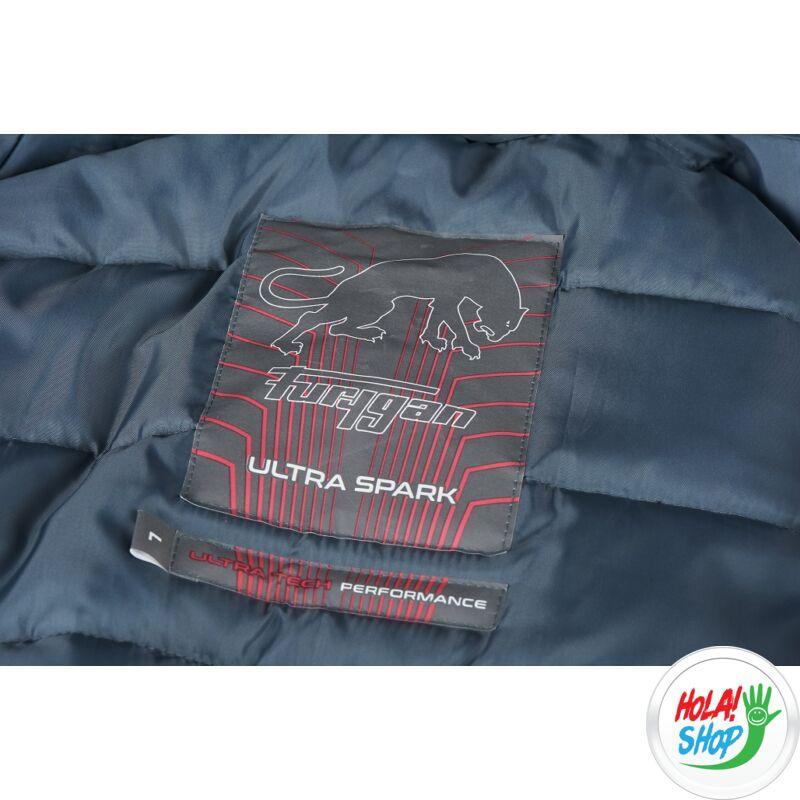 Furygan Ultra Spark 3in1 Vented nyári motoros hálós kabát, fekete-piros, Airbag ready